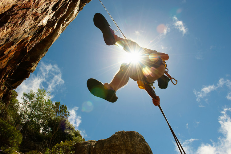 Man descending on abseil rope Image downloaded by anonymous anonymous at 21:17 on the 24/03/16
